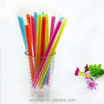 Color Disposable PP Plastic Drinking Straw