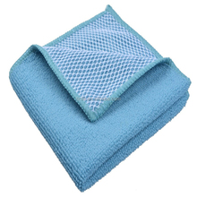 Factory Supply Low Price Antibacterial Microfiber Household Cleaning 30X30CM Mesh Cloth