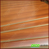 Hot Press 15mm Melamine MDF Wood Board for Furniture Board