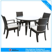 High End WickerDining Table And Chair Wholesale Restaurant Furniture