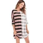 Long Sleeve Sports Stripe Sweater Casual Dress Fashion Women Dresses