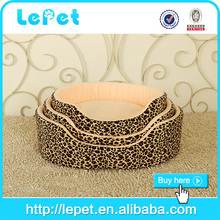 Professional manufacture luxury fabric round dog bed