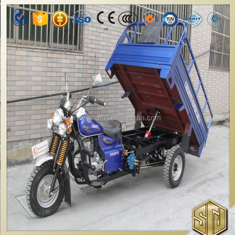 Hot Sale Enclosed Box Hydraulic Cargo Tricycle With Stronger Frame For Sale