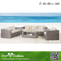 Factory audit passed picnic time table and chair outdoor garden rattan sofa