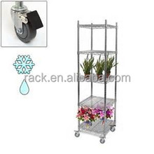 Free Standing and Chrome Metal Wire Shelving Type Convenient Display Rack Manufacturer