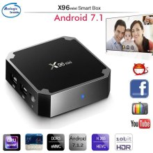 2017 Best Android Smart Tv Box 4K Kodi Android 7.1 Quad Core Set Top Box Amlogic S905W X96 mini xxx free movie tv box
