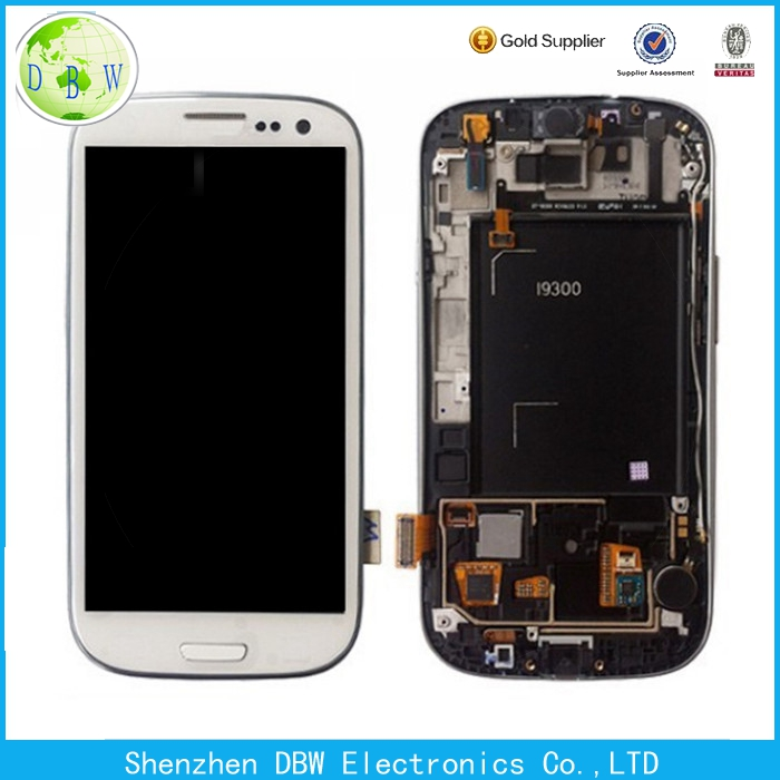 original lcd for samsung galaxy 9300 s3 lcd display with touch screen digitizer assembly replacement
