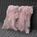 CX-D-17S Custom Made Little Rabbit Fur Patchwork Sofa Cushion,Cushion Pillow, Latest Design Cushion Cover