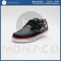 Boys high quality buckle strap slip on shoes,boys flat sole active shoes
