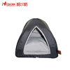 Soft comfortable black triangle PV fleece cat pet bed with brown polypropylene
