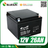 Bluesun 12v 26ah dry batteries for ups with ISO CE ROHS Certificate