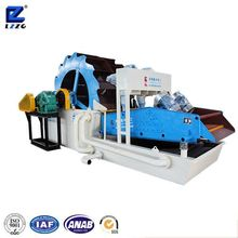 120t/h Wheel Sand Washer And Dehydration System With Two Cyclone Separators