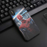 Best quality Superman Hard Plastic Phone Case For iPhone X Rubber Cute Phone Case