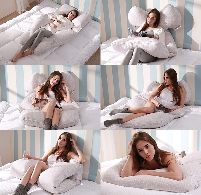 Multifunctional U shaped body pregnancy pillow