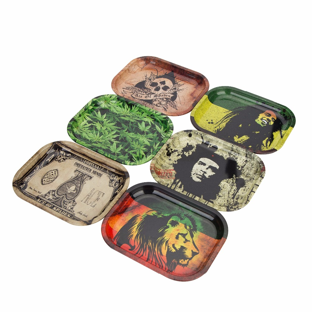 Metal Tobacco Rolling Tray Hand roller Tobacco Grinder Smoking Accessories Rolling Tools Tobacco Storage Tray