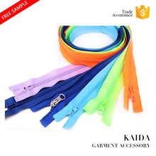 KAIDA high quality 3# 4# 5# 7# 8# 10# custom Nylon Separating zipper open end ;close end ;two way with slider