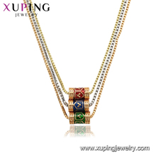 44817xuping trend fashion Popular no stone necklace jewelry in China cheap