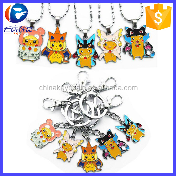 Hot Anime Cartoon Pocket Monster Pikachu Pokemon Charizard Charmander Keychain