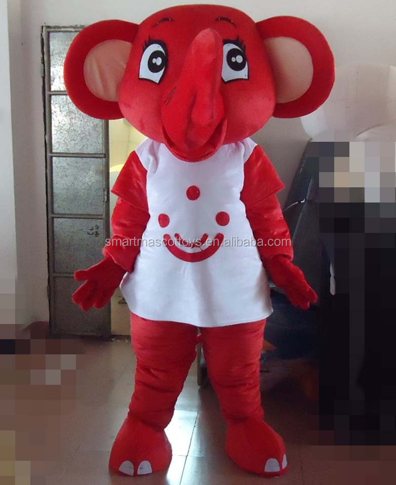 funny plush animal mascot costumes adult elephant plush costume