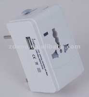 International travel adapter with USB