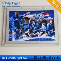 Edgelight CF4 inserting type picture frame doubled sided acrylic led light box