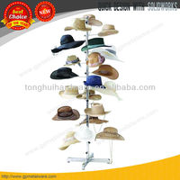 New Floor Display Retail Hat Cap Rack Rotating Spinner Stand Chrome Construction
