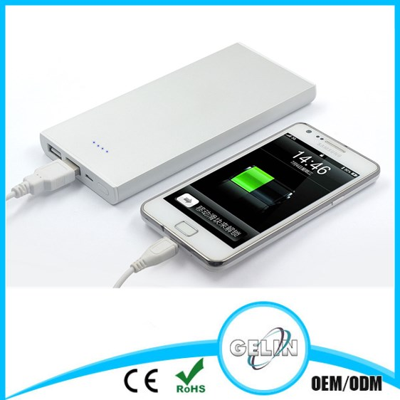 Silver 12000mah wst power bank li-polymer battery best quality and competitive price 12000mah