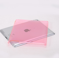 Crystal hard Shell PC Glossy Blank tablet Cover for ipad air 2 mini 2 3 4 pro 9.7 Case