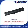 Top Rechargeable Laptop Battery Supplier for ASUS K52 11.1V 5.2Ah 58Wh Black