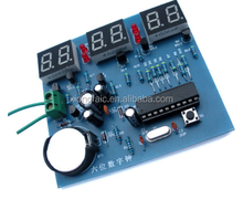 AT89C2051 Six digital clock kit SCM 6 bit LED clock electronic production parts and components diy kit