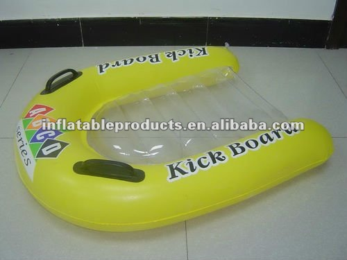 pvc inflatable baby surfboard with two handles
