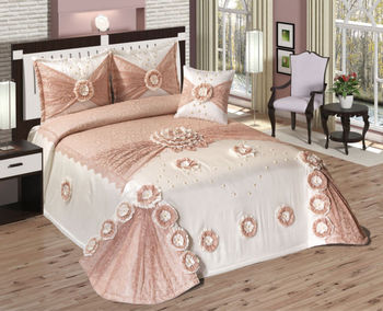 rachel bedspread set powdered pink buy embroidery bedspread turkish bedspread fancy. Black Bedroom Furniture Sets. Home Design Ideas
