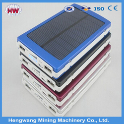 2015 Wholesale 15000mah Waterproof Solar Cellphone Charger Power Bank/High Quality Solar Power Bank