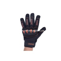 Black Spandex And PVC Patch Wholesale Products China Thin Work Gloves,Safety Mechanic Gloves