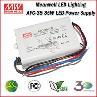 Meanwell LED Driver APC-35-500 Single Output 35W 500mA Constant Current LED Strip Power Supply