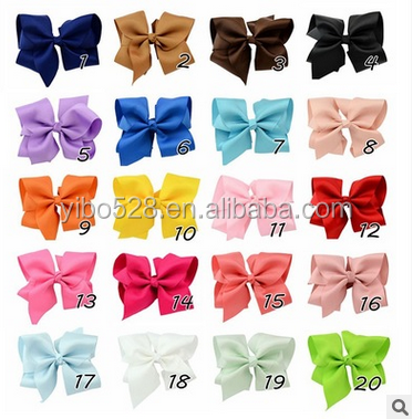 Big Grosgrain Ribbon Hair Bows Baby Girls Hair Accessories With Clip Boutique Hair Bows Hairpins