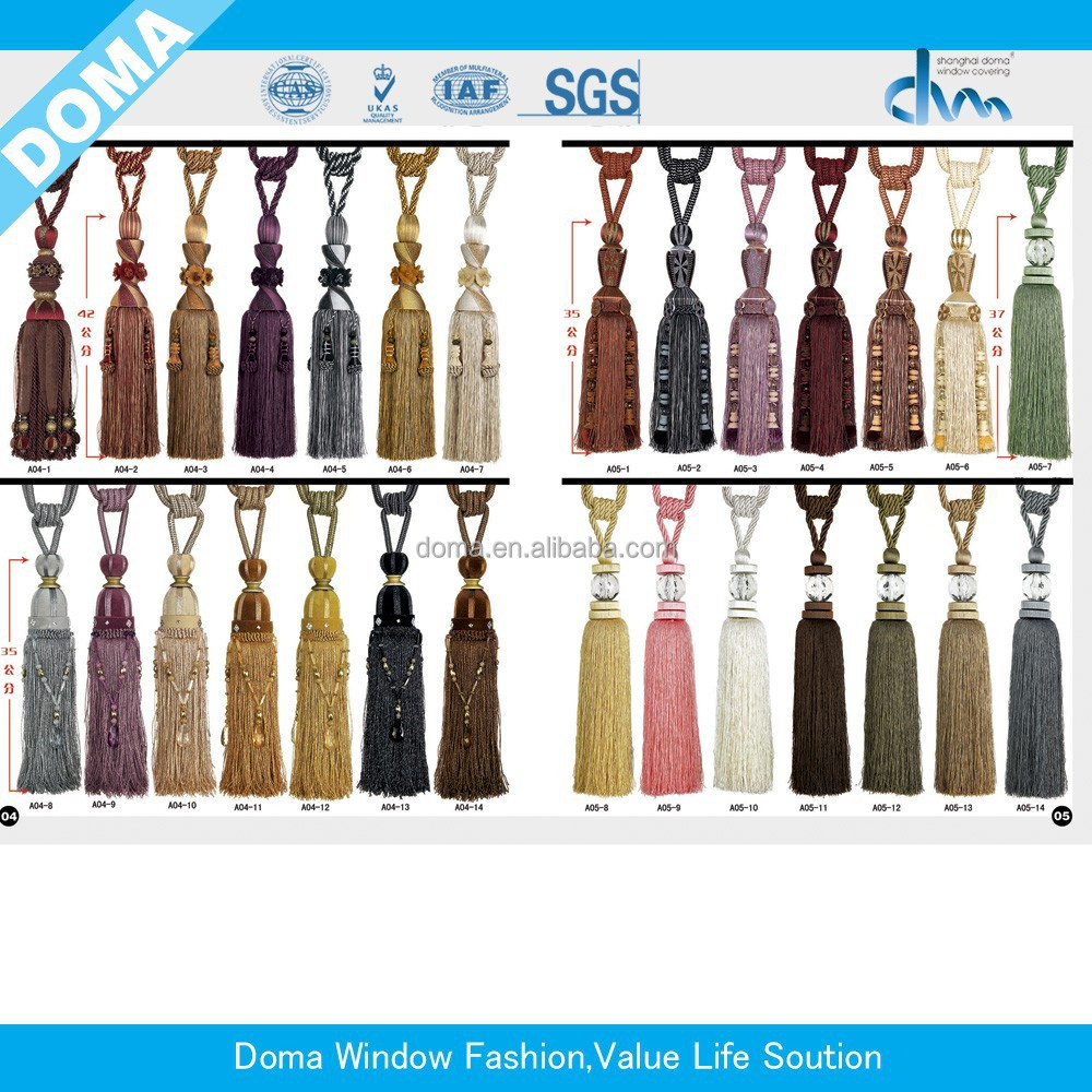 2015 newest double color curtain accessory, curtain decorative tassel/fringes