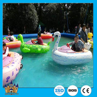 Hot sale water park amusement games inflatable bumper boat for kids