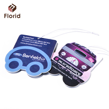 Unique squared rounded shape fragrance air freshener paper for car