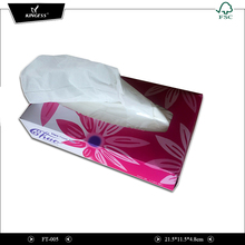 White Color Custom Printed Tissue Paper Facial Box