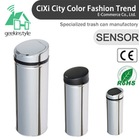 8 10 13 Gallon Infrared Touchless Dustbin Stainless Steel Waste bin Sensor Trash Can