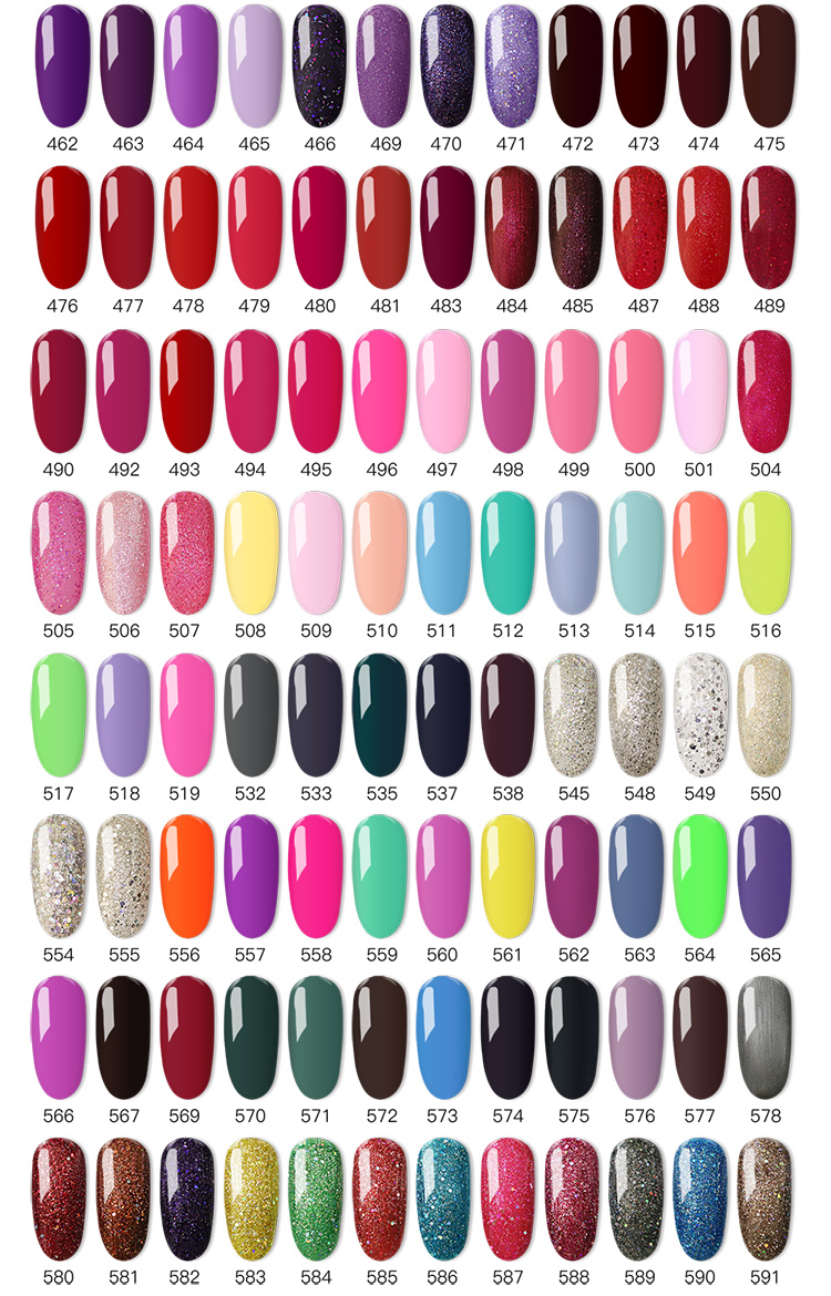 Professional OEM Private label cosmetics soak off uv acrylic gel nail polish