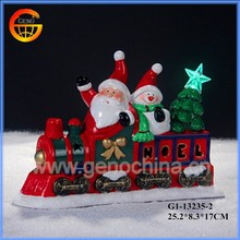 Various designs of ceramic outdoor lighted christmas train