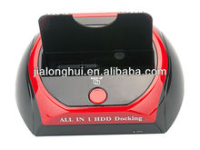 2013 hot-sell multi function 2.5 3.5 all-in-1 USB 2.0 HDD SATA HDD docking station ,sata hdd docking station driver