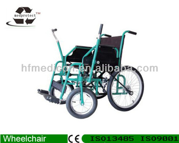 Multifunctional Handicapped Steel Arm Driving Wheelchair