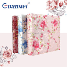 Photo album Colorful fabric material cover 4R 4*6 inch photo album 50 sheet memo slip in albums