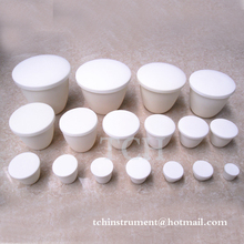 Arc shape Alumina Al2O3 Ceramic Crucible With Lid , Alumina Smelting crucible