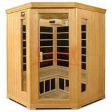 Luxury Corner Sauna Room 3-4 People Wood Pallet Sauna