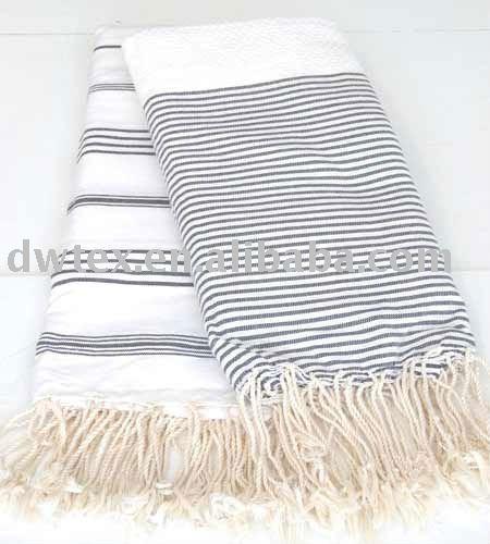 100 oder viskose baumwolle gewebt streifen hamam handtuch. Black Bedroom Furniture Sets. Home Design Ideas