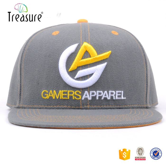 Gamer players customized logo cap and hat for team playing snapback